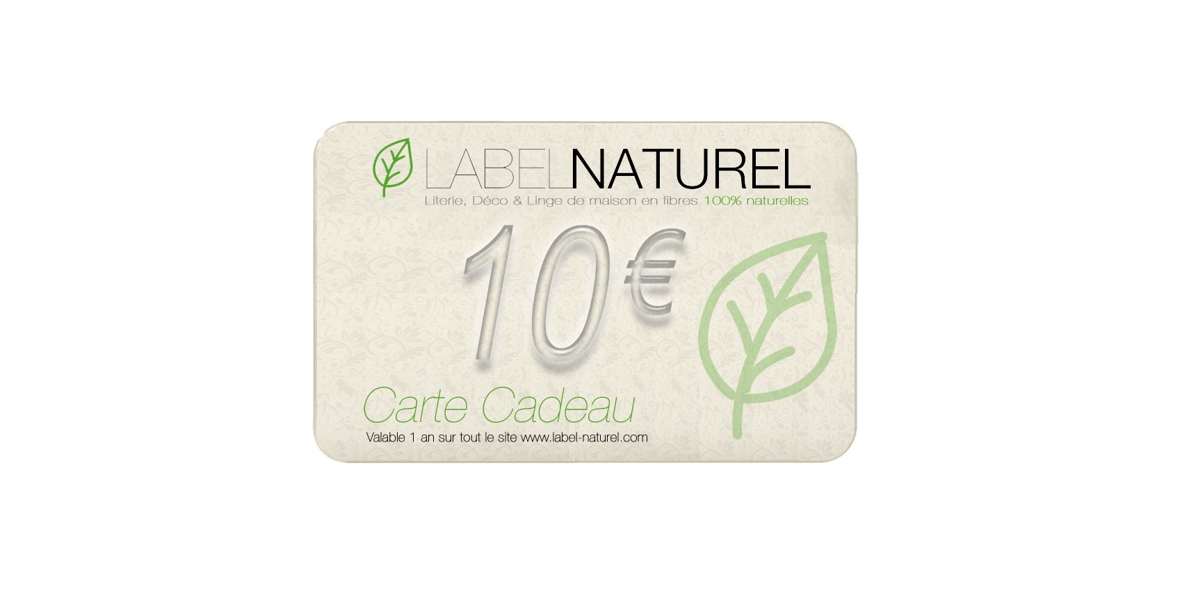 Carte Cadeau LABEL NATUREL